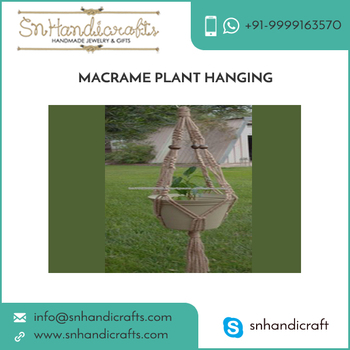 Jute Made Macrame Plant Hanging for Christmas Decoration