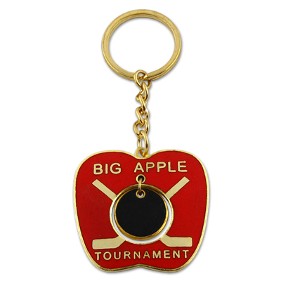 Cheap Iron Die Struck Custom Metal Keychain with Enamel Colored