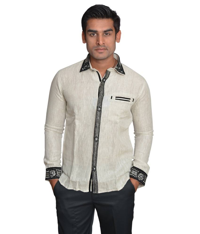 Linen Slim Fit Men Shirt