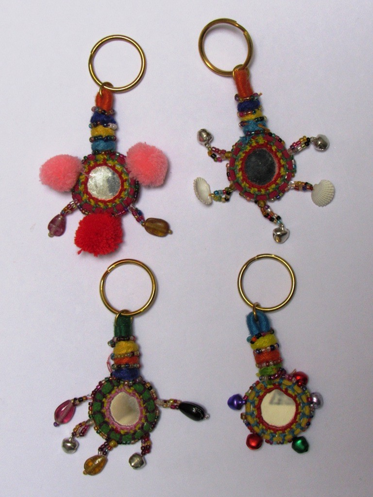Banjara Key Chain Boho look Indian Key Rings Handmade
