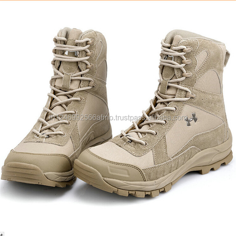 high ankle stylish sport leather tactical police safety boots for military