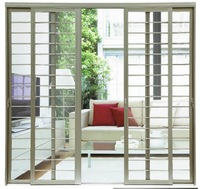 5501F Solid aluminum grille doors with insect screen