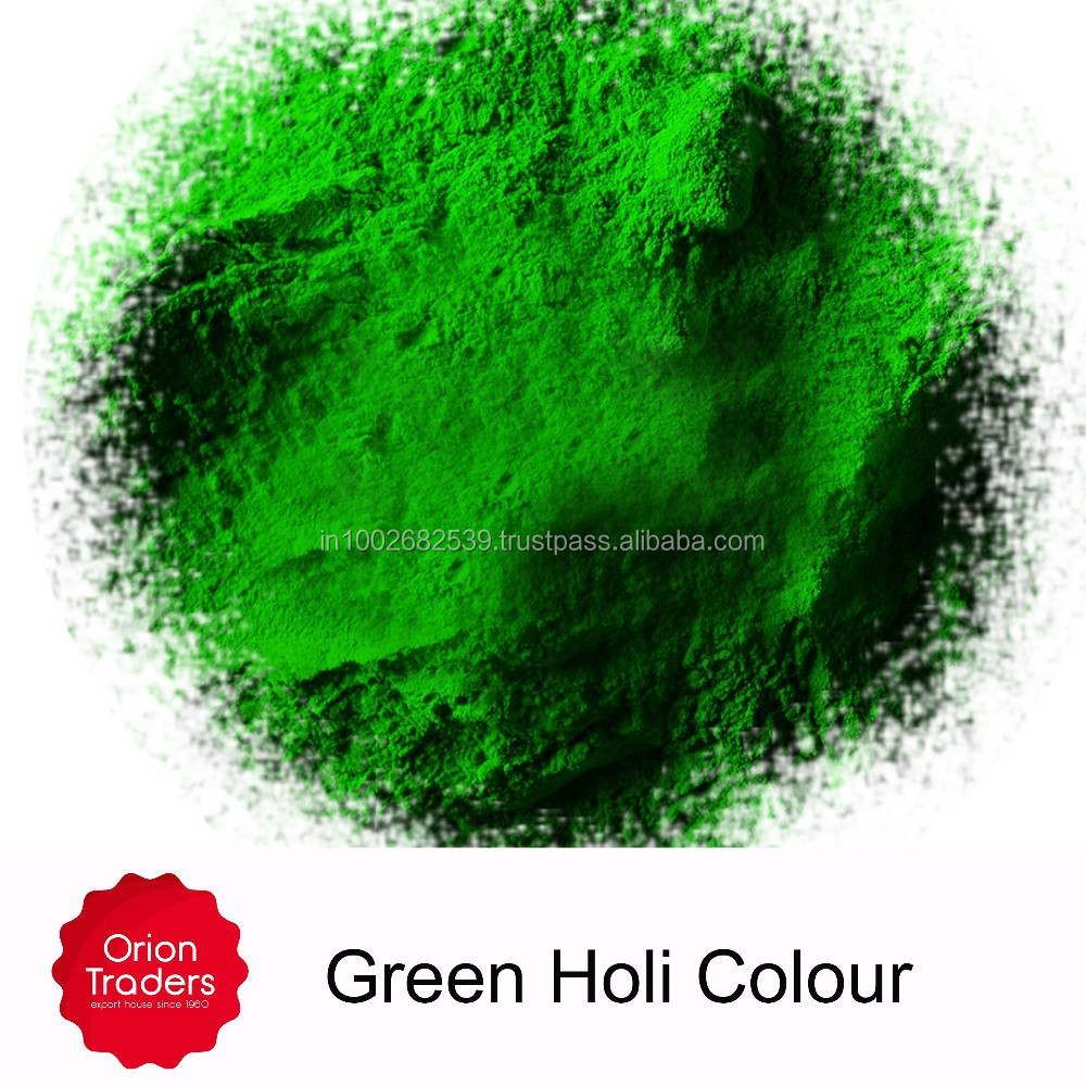 Green Holi Colour