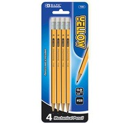 BAZIC Yellow 0.9mm 2B Mechanical Pencil (4/Pack)