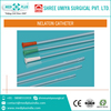 Atraumatic, Soft Rounded, Closed Tip Nelaton Catheter for Efficient Drainage