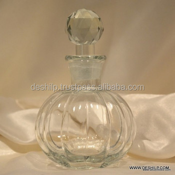 FLASH CRYSTAL ETCHED DECANTER WITH CLEAR CRYSTAL STOP