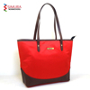 Classic Polyester and PU Leather Handle Ladies Hand Bag