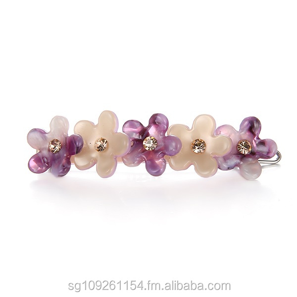 Sweet Flower Crystals Hair Clip