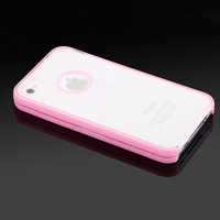 IMPRUE New Dual color Rubber soft silicone gel tpu case cover for iphone 4s