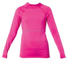 women sportswear high performance compression shirts/high quality custom made wholesale blank rash guards