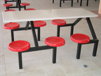 FRP six-seater Dining Table & Chair, Fiberglass Chair, Fibreglass Table