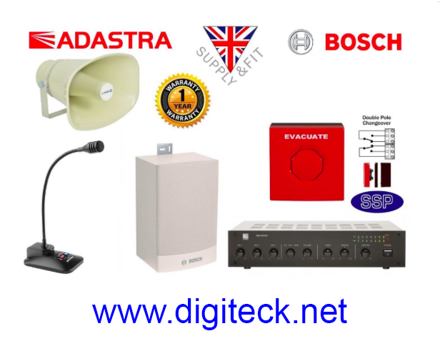 Emergency Bosch Evacuation Alarm Alert System Supply & Fit Fire Safety
