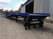 Container yard ramp for forklift