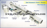 Semi Automatic Potato Chips Line 200 Kg/Hr