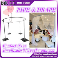 Portable round pipe and drape backdrops for wedding and events pipe and drape stands