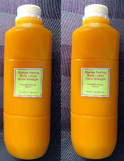 2 Liters Orange Peeling Body Lotion Extra Strength Derma Tested