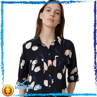 Ladies Floral Print Long Sleeve Shirt