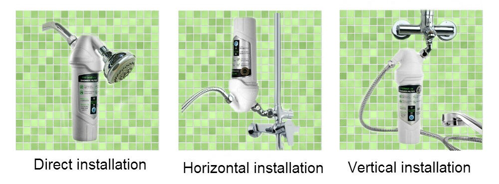 HOT sale shower head filter, remove 99% chlorine for housing spa with carbon kdf media