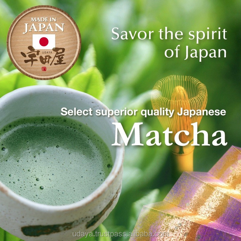 Healthy nutritious matcha powder from Japanese tea companies