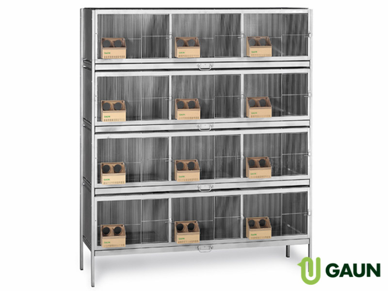 Pigeon breeding cage 12 compartments. Removable divider