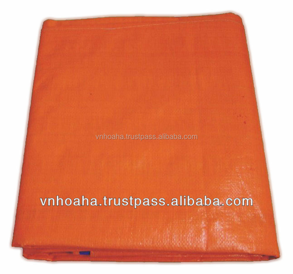 Vietnam cheap recycled material printable coloured PE tarpaulin