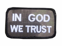 in god we trust patch Cheap Good Quality Sew On Embroidery Patch, Custom Embroideried Patch