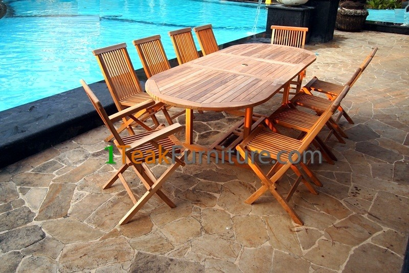 2017 Patio Teak Garden Sets - Outdoor Teak Sets - Best Selling Products Teak Table Folding Chair - Competitive Price