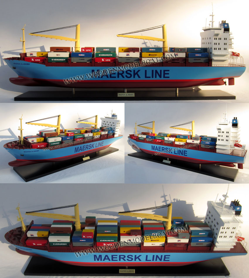 MAERSK ALABAMA CONTAINER SHIP - WOODEN MODEL SHIP