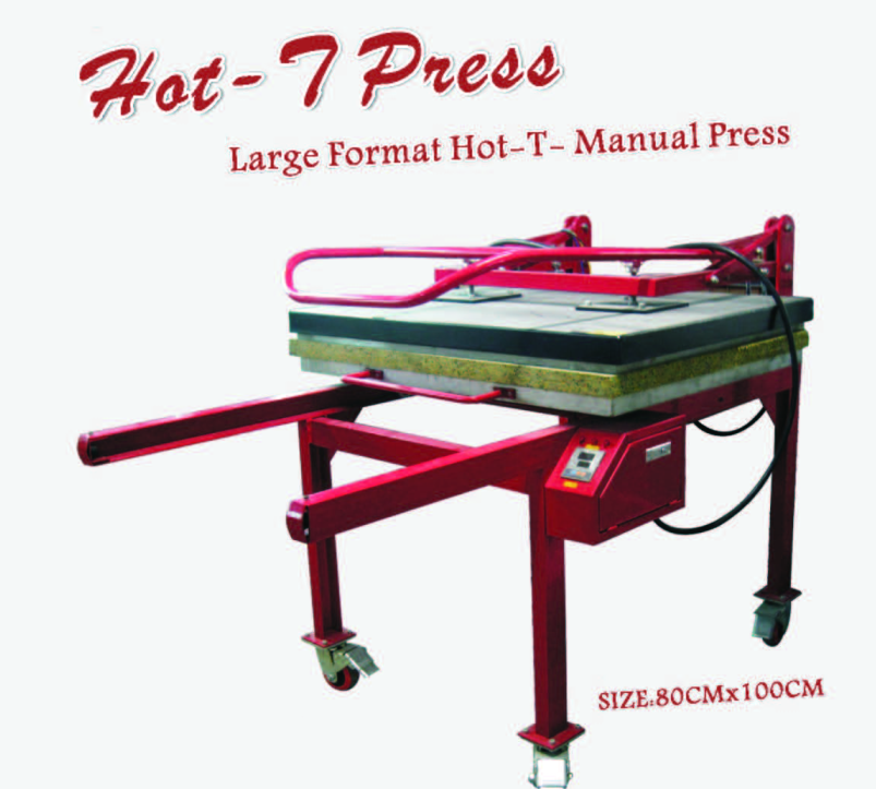 large format manual sublimation heat press 80x100cm t-shirt transfer machine