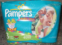 PAMPER -DRY BABY DIAPERS