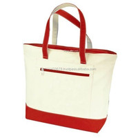 2013 stylish zip tote bag canvas shopping tote bag
