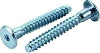 Flat head hex socket furniture wood screws