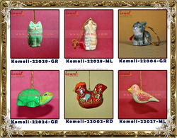HOT decorations in christmas 2015 new products christmas PaperMache Hand Painted Christmas Ornament - Animal Theme - Handpainted