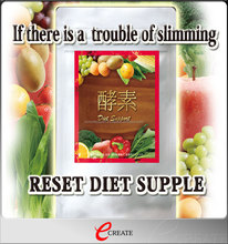 High quality and Delicious nutrition RESET DIET SUPPLE with Effective for beautiful body line made in Japan