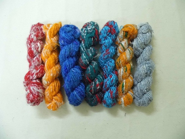 Banana Silk Yarn made from recycled rayon and viscose fibers for knitters, weavers, yarn and fiber stores,