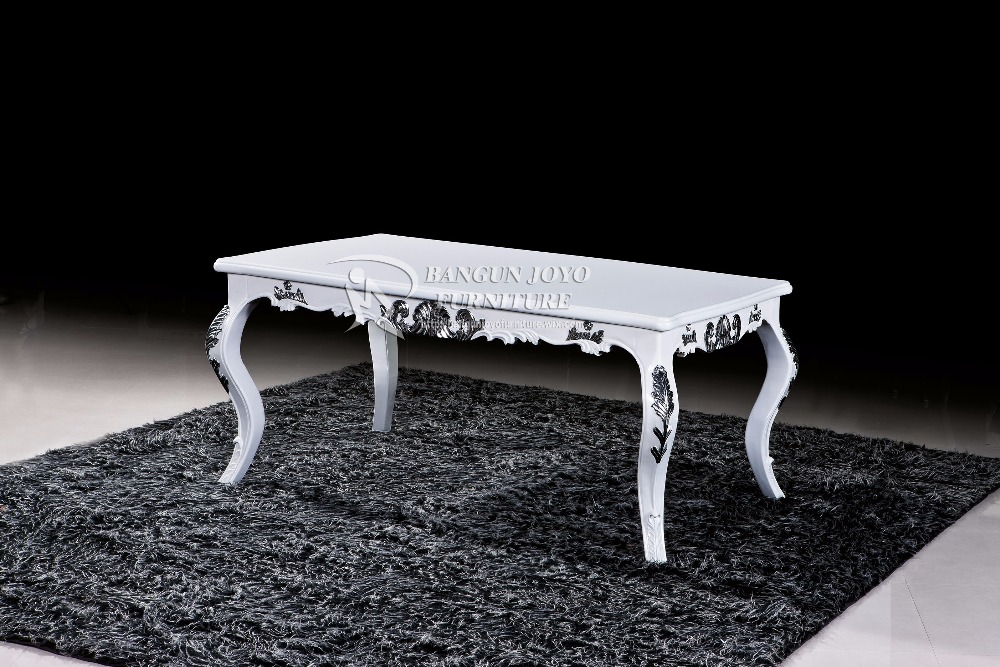 European antique luxury living room furniture hand carved wooden coffee table