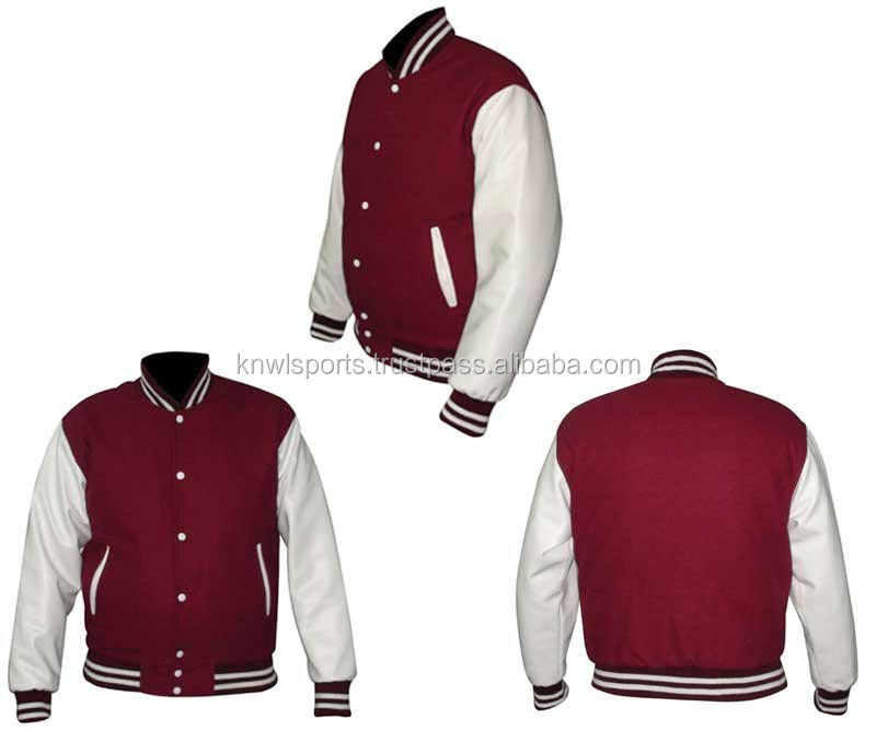 Custom White satin baseball Varsity Letterman Jacket girls