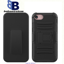 Hot Selling 3 in 1 Belt Clip Holster Defender Cases Covers For iPhone 7 holster water proof phone case