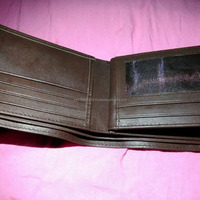 Genuine Cow Leather Center Card Wallet