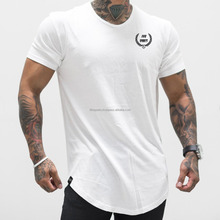 Wholesale tshirt personalized curved hem t shirt