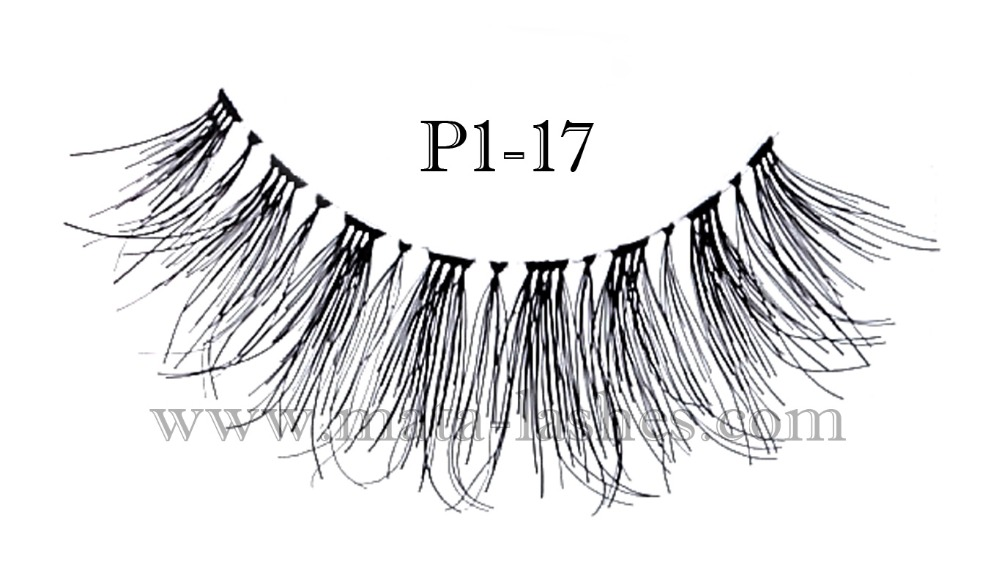 High Quality 100% Real Human Hair Premium Eyelashes || P1-17