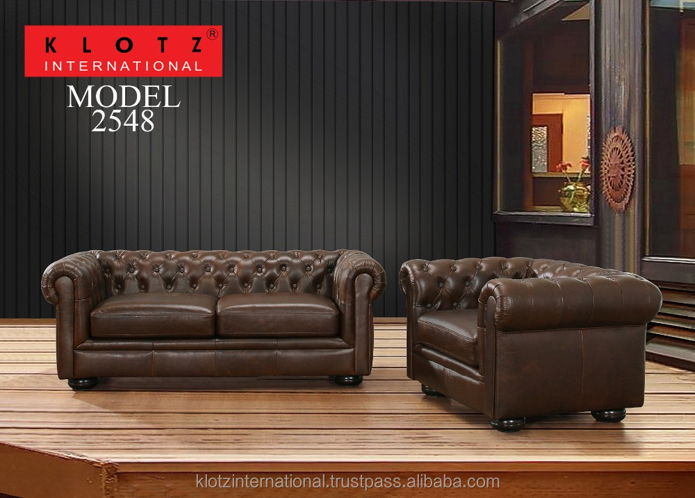 Antique Chesterfield Style Leather Sofa 2548