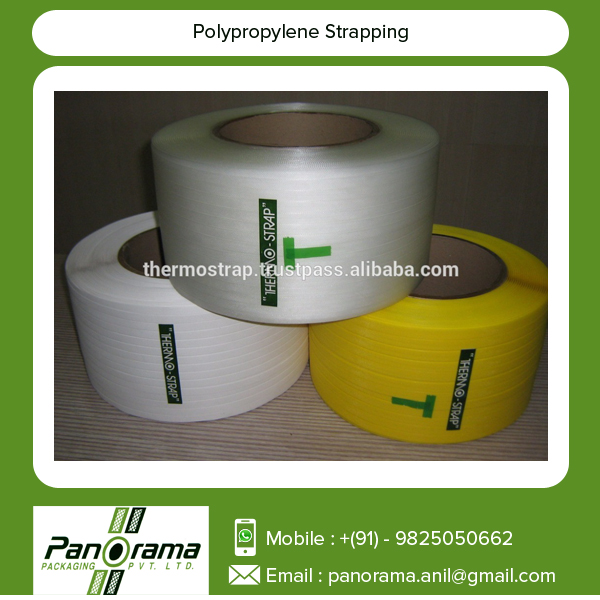 Standard Size Polypropylene Straps Available for Packaging, Lamination and Zip Bags