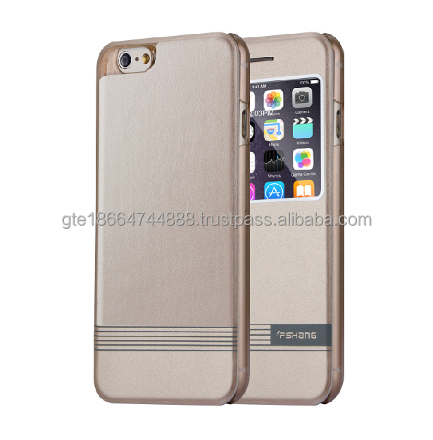 New arrival best seller fshang folding open window filp cover for iphone 6S/6S plus case