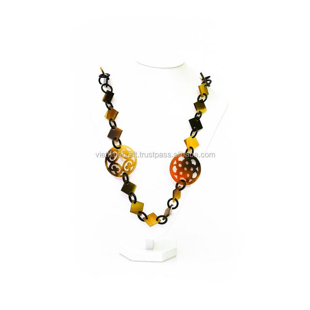 Wholesale horn jewelry, water buffalo horn necklace handmade in Vietnam