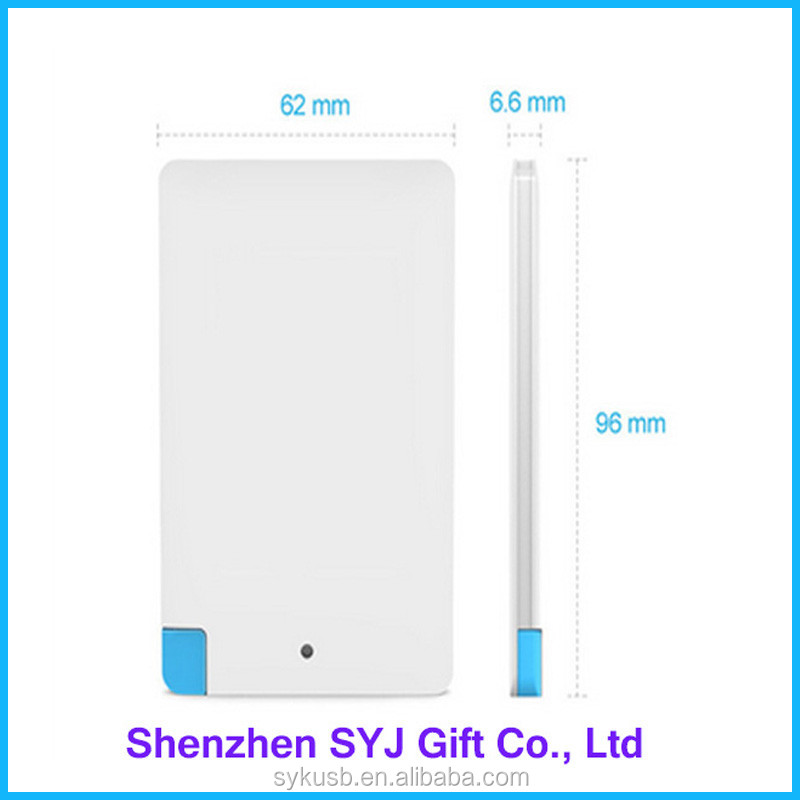 2017 Mini Mobile Phone Charger High Quality Ultra Slim Power Bank