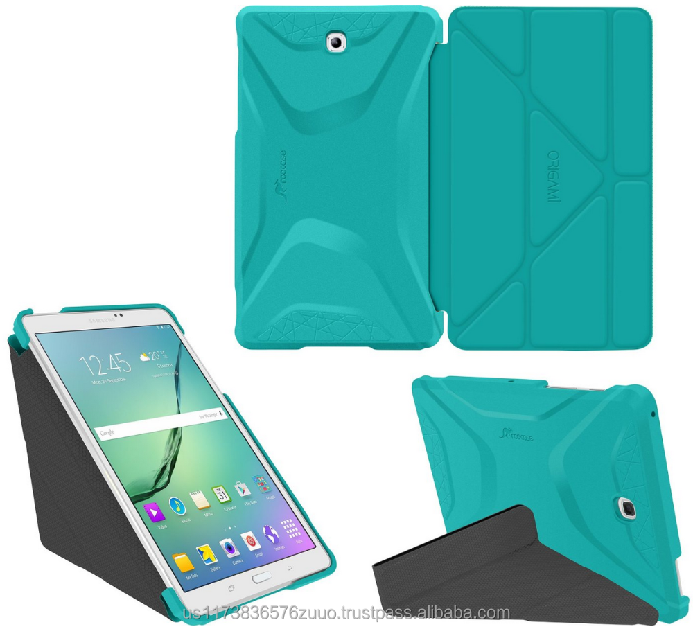 Ultra Slim Shell Lightweight Tablet Sleep / Wake Stand Folio Cover Case for Galaxy Tab S2 8.0 roocase (turquoise)