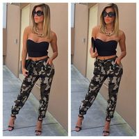 Women Sexy Camouflage Leggings High Waist Stretchy Slim Camo sexy trouser Female