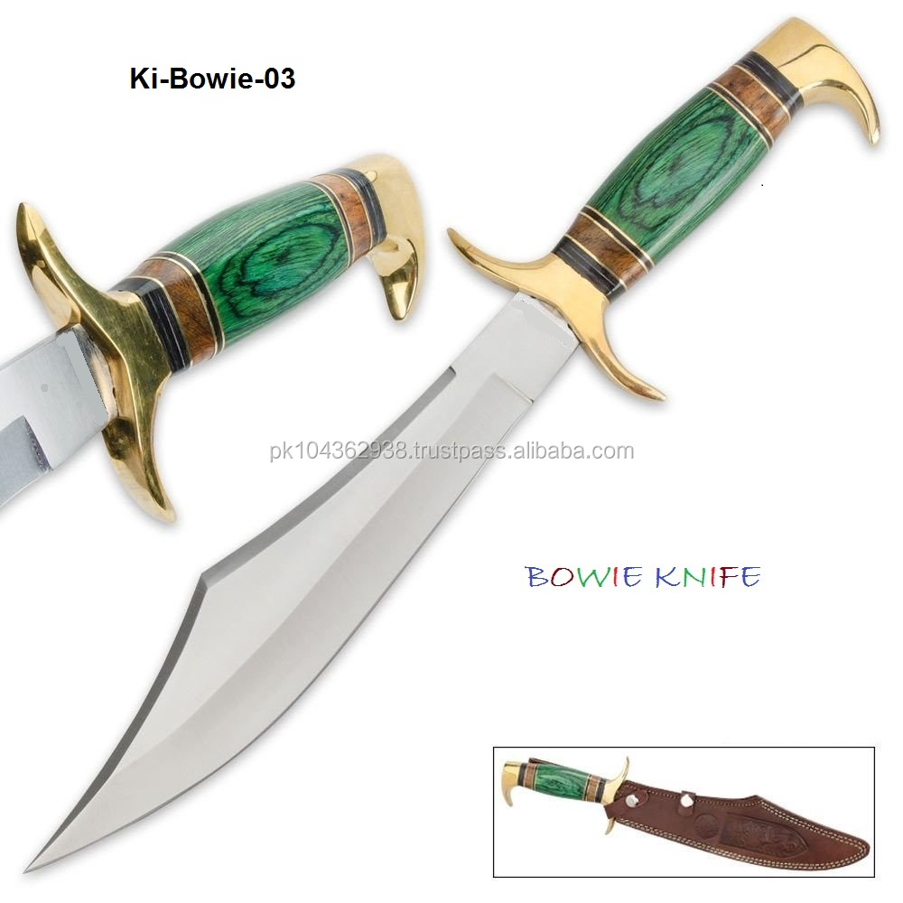 SCIMITAR Fixed BOWIE Skinning Hunting Knife