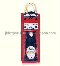 Wholesale Wine Bottle Jute Bags With Window jute bag 2017